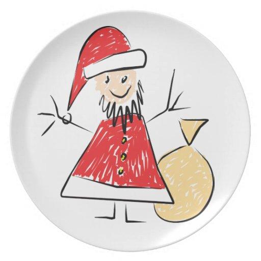 Kids Christmas Dinner Plate