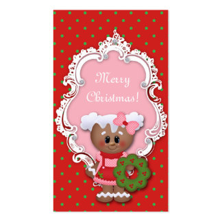 Kids Christmas Gift Tag Cute Dots Baby Shower Business Card