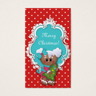Kids Christmas Gift Tag Cute Tree Baby Shower