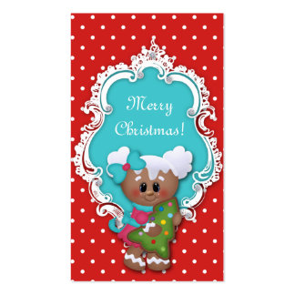 Kids Christmas Gift Tag Cute Tree Baby Shower Business Card