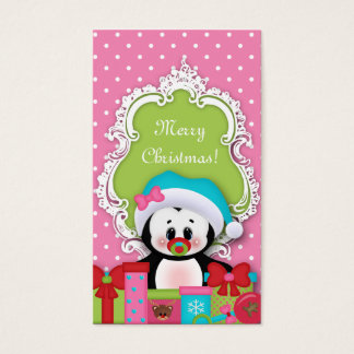 Kids Christmas Gift Tag Penguin Baby Shower