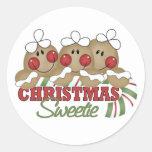 Kids Christmas Gifts Round Sticker