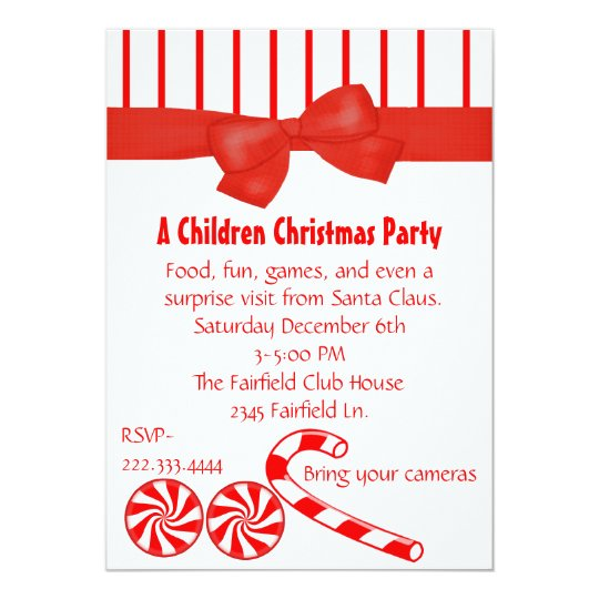 Kid's Christmas Party Invitation