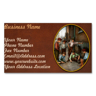 Kids - Cincinnati OH - A shady game 1908 Business Card Magnet