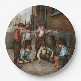Kids - Cincinnati OH - A shady game 1908 Paper Plate