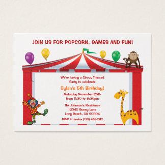 Kids Circus Birthday Party Invitations