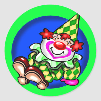 Kids Circus Clown T Shirts and Gifts Classic Round Sticker