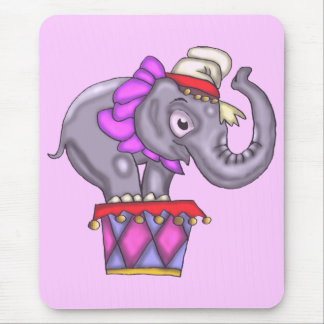 Kids Circus Elephant T Shirts and Gifts Mouse Pad