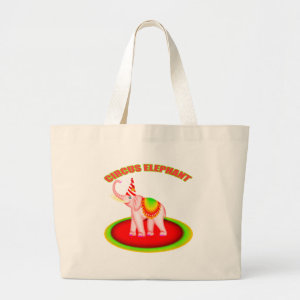 Kids Circus Elephant Tote Bag bag