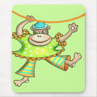 Kids Circus Monkey T Shirts and Gifts Mouse Pad