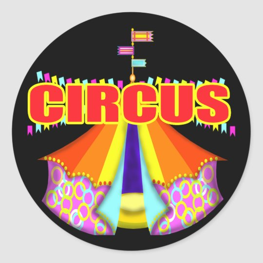 Kid's Circus T Shirts and Gifts Classic Round Sticker