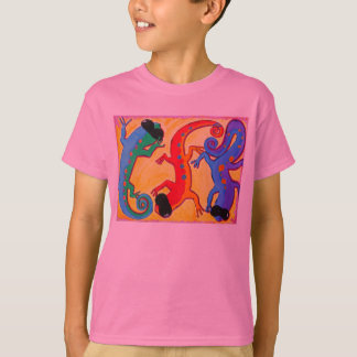 Kid's classic tee - Carribean Lizards