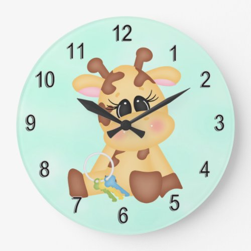 Kid's Clock Cute Baby Giraffe