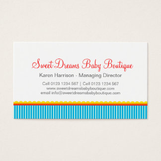 Kids clothing or baby boutique business cards