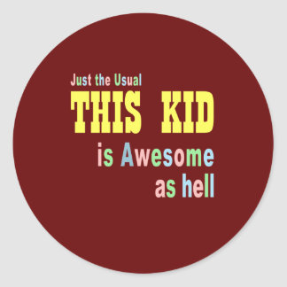 Kids clothing stores online classic round sticker