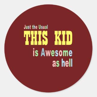 Kids clothing stores online classic round sticker