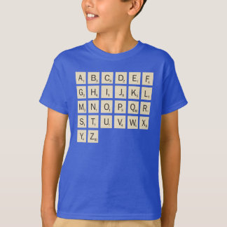 Kids Colored Personalized Scrabble T-Shirt