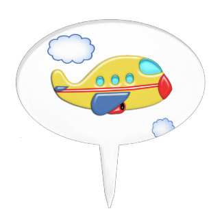 Kid's Colorful Airplane Cake Topper