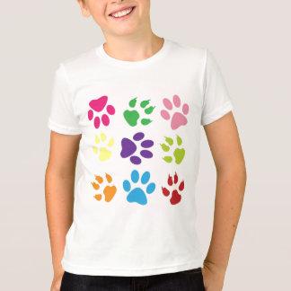 Kids Colorful Dog Paws T-Shirt