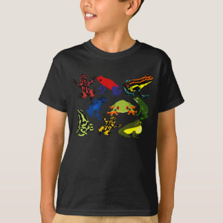 Kids Colorful, Fun Poison Dart frogs, Tree frogs! T-Shirt