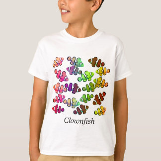 Kids Colorful School of Clownfish T-Shirt