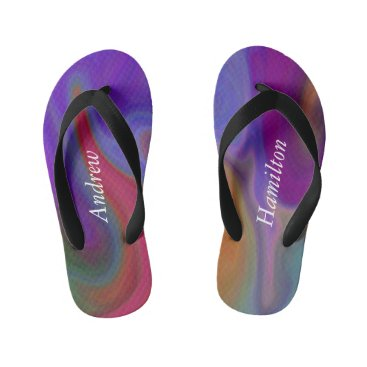 Kids Colorful Water Flip Flops with your Name