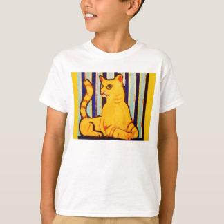 Kids Comfort T-Shirt with Yellow Cat Design
