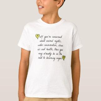 Kids comfort tee ~ Active Vegan ~