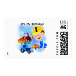 Kids Construction 1st Birthday T-shirts and Gifts Postage Stamps