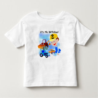 Kids Construction 2nd Birthday Tshirts and Gifts