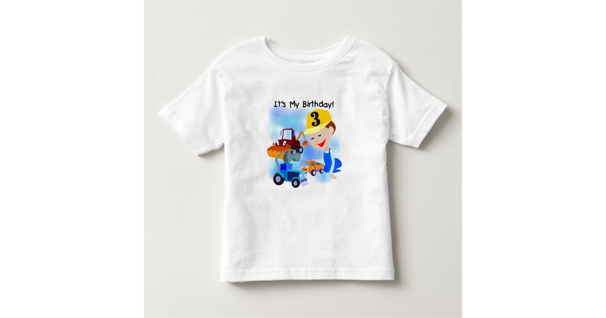 Kids Construction 3rd Birthday T Shirts And Gifts Zazzle Com