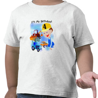 Kids Construction 4th Birthday T-shirts and Gifts