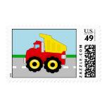 Kids Construction Dumpruck Stamp