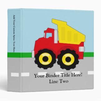 Kids Construction Dumptruck Binder
