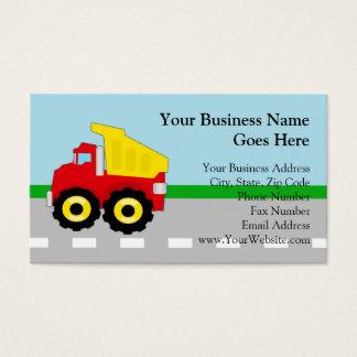 Kids Construction Dumptruck Business Card