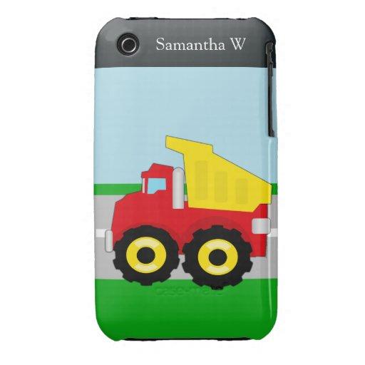 Kids Construction Dumptruck Case-Mate iPhone 3 Cases