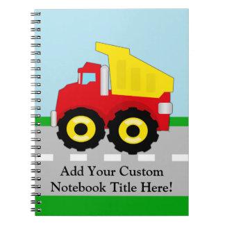 Kids Construction Dumptruck Notebook