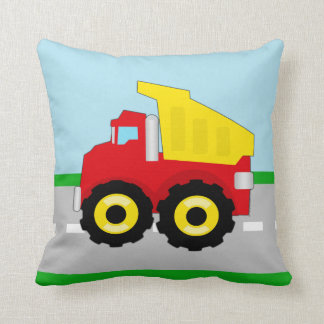 Kids Construction Dumptruck Throw Pillows