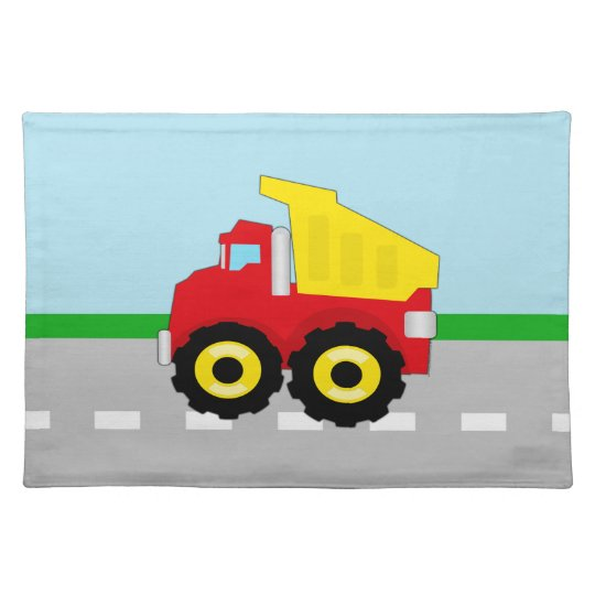 Kids Construction Dumptruck Placemat