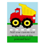 Kids Construction Dumptruck Postcard