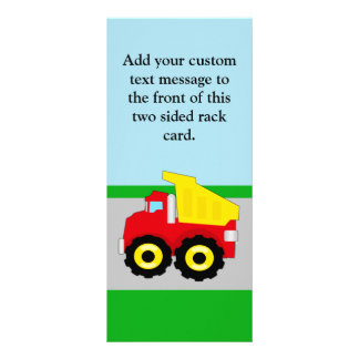 Kids Construction Dumptruck Rack Card