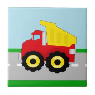 Kids Construction Dumptruck Tile