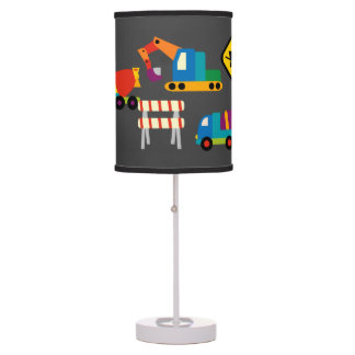 Kids Construction Vehicles Table Lamp