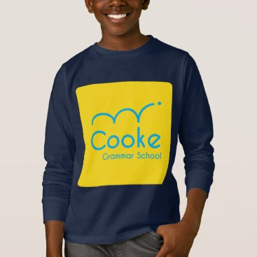 Aztec Themed KIDS Cooke Grammar School Long Sleeved Shirt, Navy T-Shirt