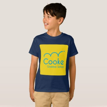 Aztec Themed KIDS Cooke Grammar School Shirt, Navy T-Shirt
