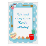 Kid's Cooking Party Invitations Greeting Card