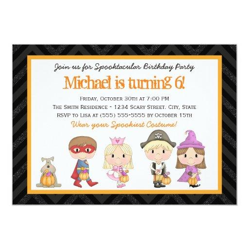 Costume Birthday Party Invitation for good invitation design