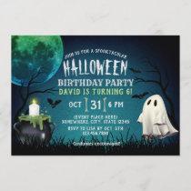 Kids Costume Halloween Birthday Party Invitation