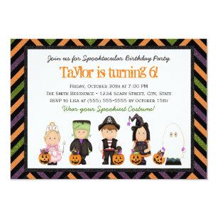 Halloween birthday invitations zazzle kids costume halloween birthday party invitation i filmwisefo Images