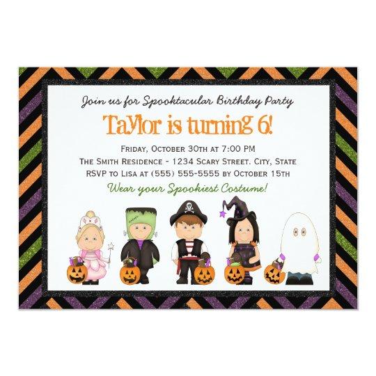 Kids Costume Halloween Birthday Party Invitation I Zazzle Com